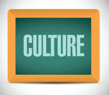 behavioral: culture message on a board. illustration design over a white background