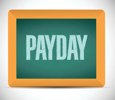 payday message on a chalkboard. illustration design over a white background Stock Vector - 26874866