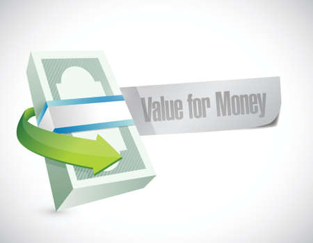 bill board: value for money bills sign illustration design over a white background