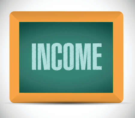 income message on a board. illustration design over a white background