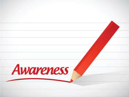 awareness sign message illustration design over a white background Vettoriali