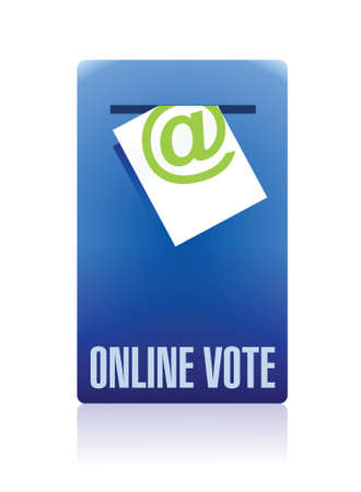 online vote concept illustration design over a white background Vector