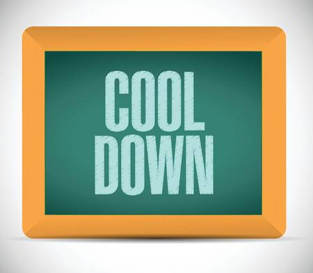 menopause: cool down sign message on a board. illustration design over a white background