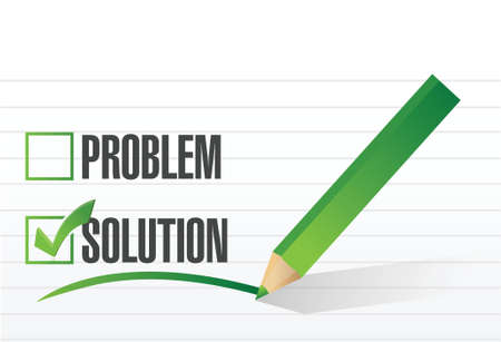 check mark on solution illustration design over a white background Vector