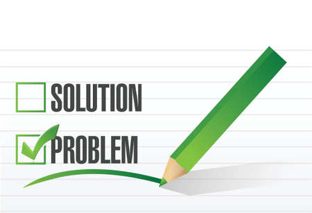 problem check mark illustration design over a white background