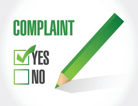 complaint check mark illustration design over a white background