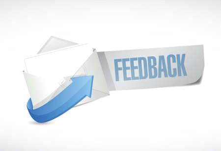 feedback envelope mail illustration design over a white background