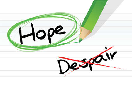 hope: hope over despair illustration design over a white background