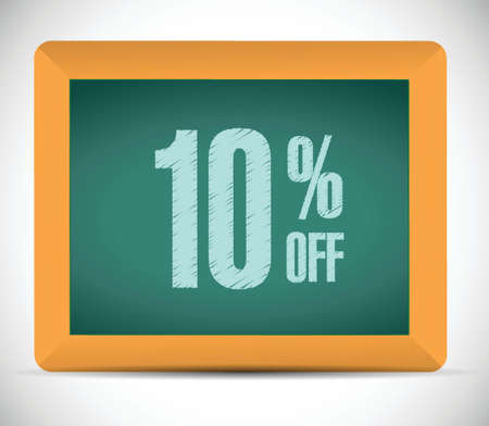 10 percent discount message illustration design over a white background Vector