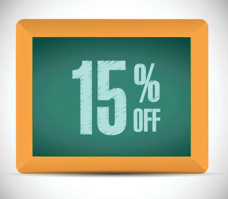 15: 15 percent discount message illustration design over a white background