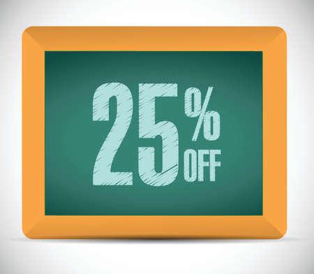 advantageous: 25 percent discount message illustration design over a white background