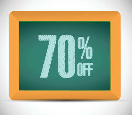 finance department: 70 percent discount message illustration design over a white background
