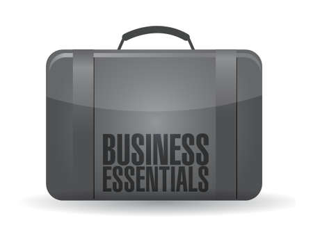 business essentials suitcase illustration design over a white background Vector
