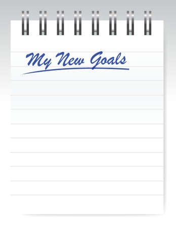 better chances: my new goals notepad illustration design over a white background Illustration