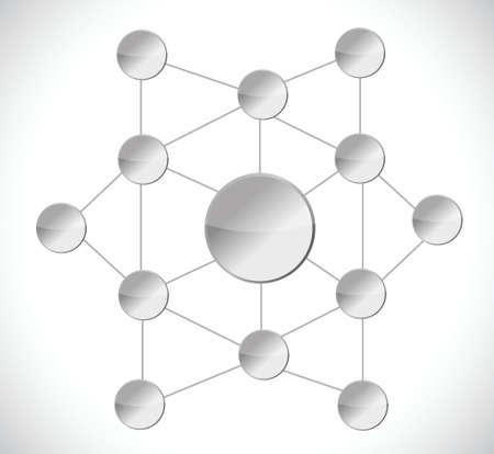 unique grey connection diagram illustration design over a white background Stock Vector - 27283554