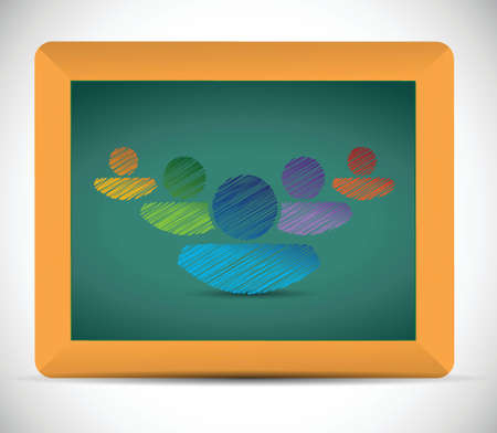teamwork diversity illustration design over a white background