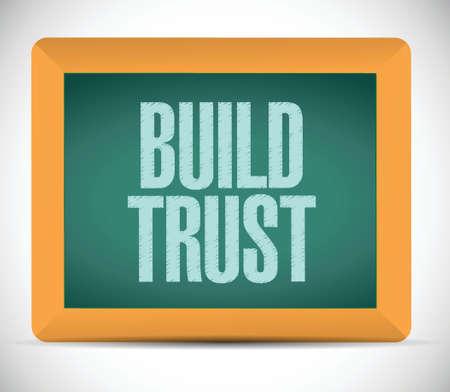 build trust sign message illustration design over a white background Illustration