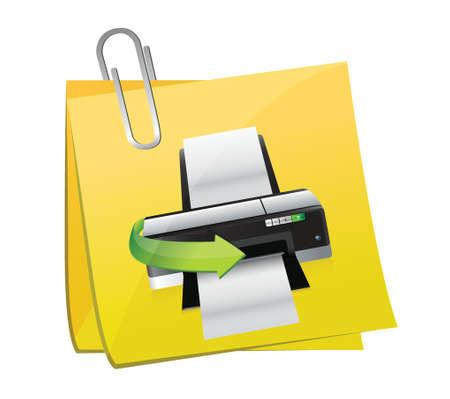 documentation: post printer illustration design over a white background Illustration