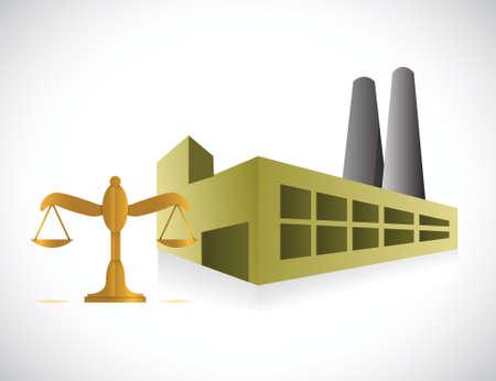 factory balance illustration design over a white background Illustration