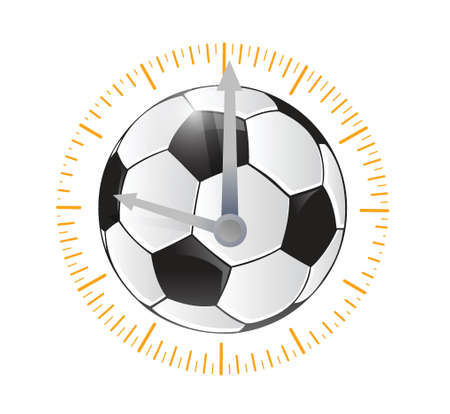 soccer ball watch illustration design over a white background Vector