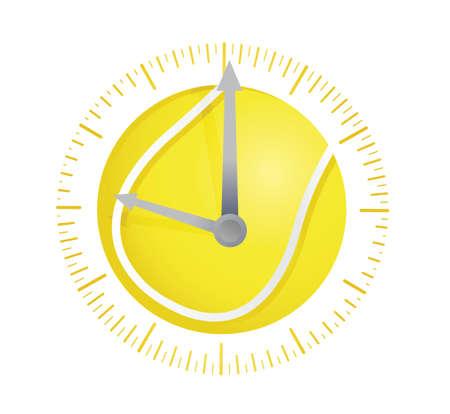 tennis ball watch illustration design over a white background Çizim