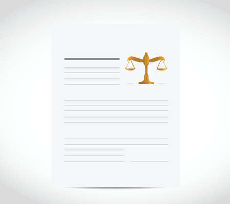 legal business document illustration design over a white background