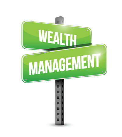 wealth management sign illustration design over a white background Vettoriali