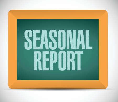 seasonal report message illustration design over white Illustration