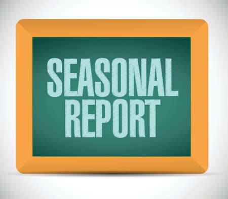 seasonal report message illustration design over white Çizim