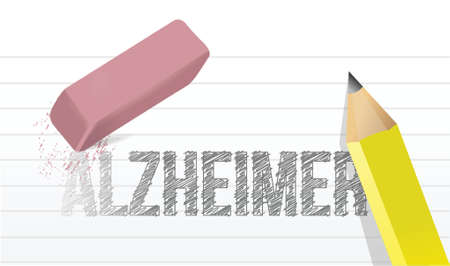 erase alzheimer. bring back memory. illustration design over a white background Vector