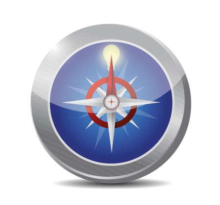 idea compass illustration design over a white background
