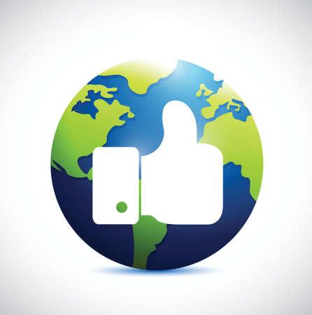 like international globe illustration design over a white background Vector