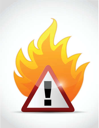 fire warning symbol illustration design over a white background