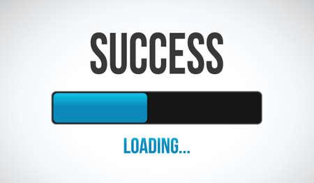 slow: success loading bar illustration design over a white background