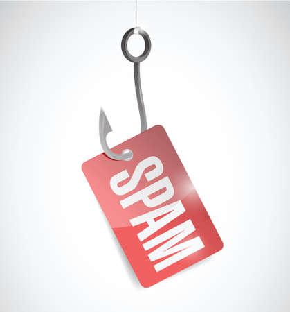 hook and spam illustration design over a white background Illustration