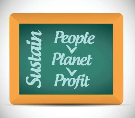 sustain: sustain message illustration design over a white background Illustration