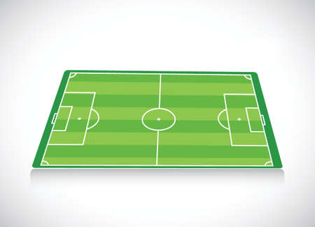 soccer field: soccer field illustration design over a white background