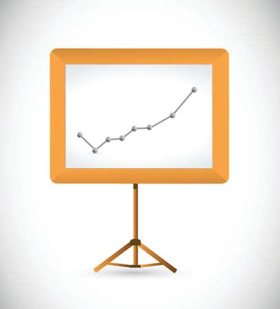 Business-Grafik und Präsentation Bord. Illustration, Design über einem weißen Hintergrund Standard-Bild - 27389521