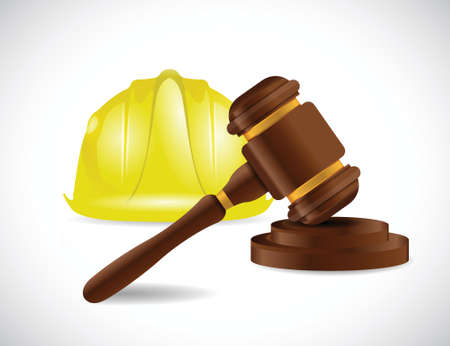 law and order: construction law illustration design over a white background Illustration