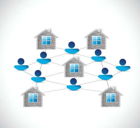 home people network illustration design over a white background Vector