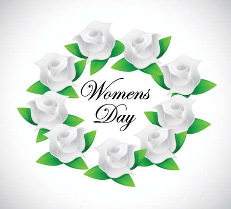 womens day banner illustration design over a white background