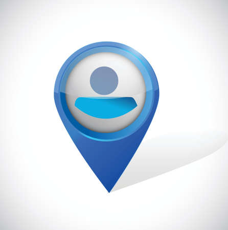 people locator illustration design over a white background