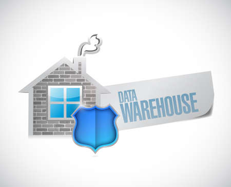 data warehouse sign illustration design over a white background illustration