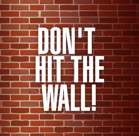 insurmountable: dont hit the the wall concept illustration design background