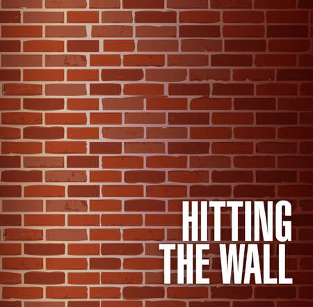insurmountable: hitting the wall concept illustration design background