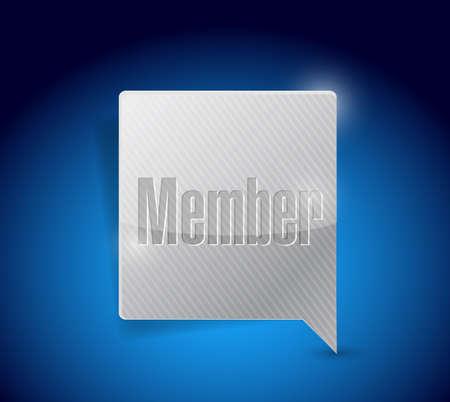 peeler: member message bubble illustration design over a blue background