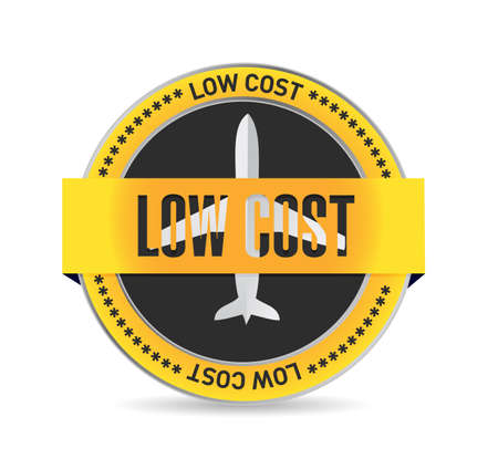 low cost: low cost traveling seal illustration design over a white background Stock Photo