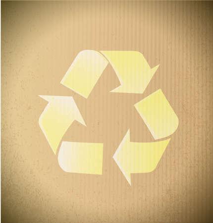 recycle symbol illustration design over a cardboard background illustration