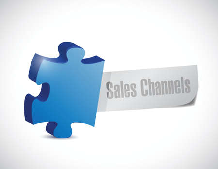 puzzle sales channels illustration design over a white background Vector