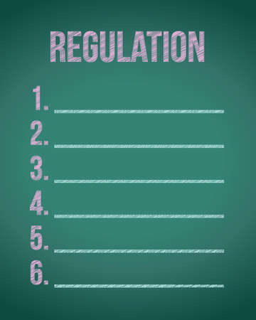 law and order: list of regulations illustration design over a chalkboard background